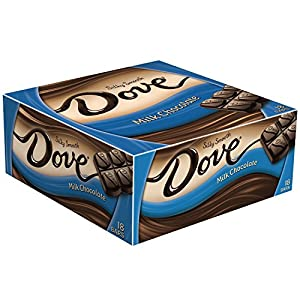 DOVE Milk Chocolate Singles Size Candy Bar 1.44-Ounce Bar 18-Count Box