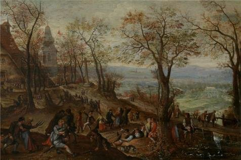 Oil Painting 'Pieter Stevens II,Country Fair,1567-1624', 10 x 15 inch / 25 x 38 cm , on High Definition HD
