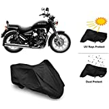 CreativeVia 2 IN1 Protection Bike Cover For Royal Enfield Thunderbird 350/500cc - Black