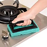 #6: House Of Quirk 3Pc Sponge Brush For Floor Tile Scrubber Polisher Cleaning