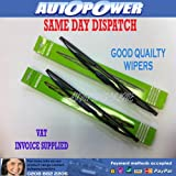 PAIR OF QUALITY WIPER BLADES PEUGEOT 206 SW 2002-2006 22