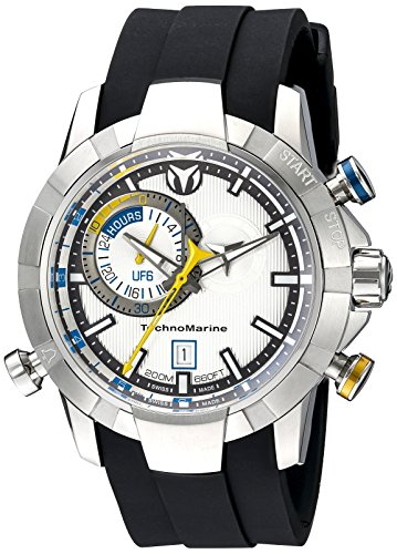 Technomarine-Mens-TM-614003-UF6-Analog-Display-Swiss-Quartz-Black-Watch