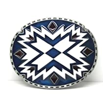 Little Hand Mens Celtic Circular Pattern X Cross Oval Belt Buckles