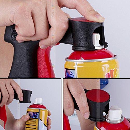 2PCS Plastic Dip handle Rim membrane portable spray gun Spray Can Trigger Handle (Plastic Rim Dip compare prices)