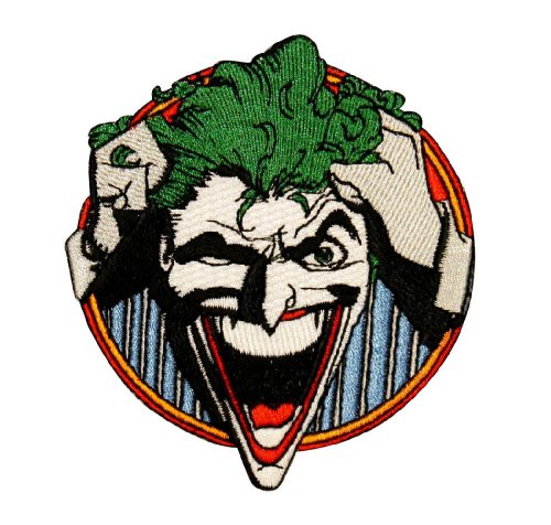 Comics Batman Joker Laughing Embroidered Iron On Movie Patch Applique