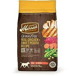Merrick Grain Free Real Chicken + Sweet Potato Recipe Dry Dog Food, 25-Pound