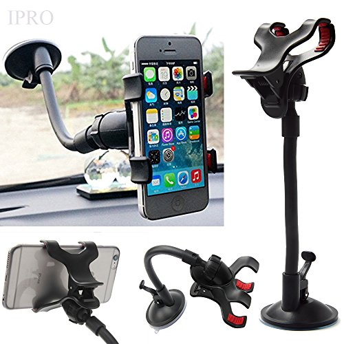 Car Mount for iphone 6s Plus,IPRO Universal Windshield Dashboard Cell Phone Clip Holder 360 Rotating Sturdy Suction Cup Car Cradle Stand for IOS iphone SE&Samsung,LG,Google Nexus