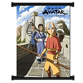 "Nickelodeon Avatar the Last Air Bender Cartoon Fabric Wall Scroll Poster (32""x42"") Inches"