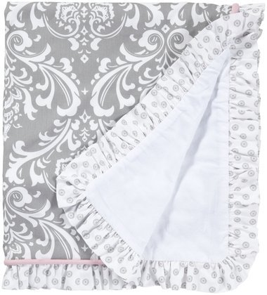 New Arrivals Stella Gray Crib Blanket- Pink, White & Gray