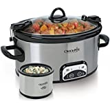 Crockpot  SCCPVL603S-033 Cook and Carry Smart-Pot Slow Cooker with Little Dipper Warmer, Stainless