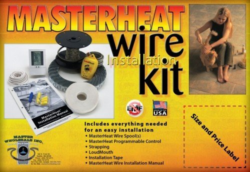 Masterheat 130 Sq.Ft. In Floor Heating Wire Installation Kit 120V