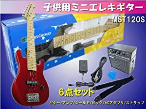 KC:ミニエレキギター MST120S【レッド】 アンプ付き6点セット