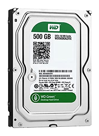 "WD Green 3.5"" Disque dur interne 500 Go intellipower 64 Mo SATA 6Gb/s (WD5000AZRX - bulk)"