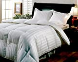 Blue Ridge Home Fashions, Hotel Grand Milano 800-Thread Count Hungarian White Goose Down Comforter, Full/Queen