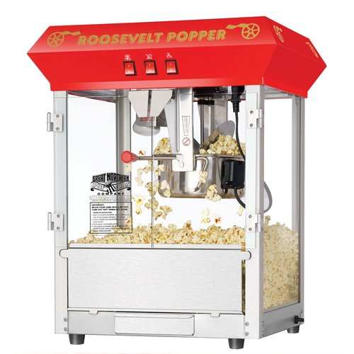 If you are in the market for a popcorn popper, stop looking. These commercial quality machines feature stainless steel food-zones, easy cleaning stainless steel kettles, heated warming decks, old-maid drawers (for un-popped kernels), tempered glass panels and an industry leading 8-ounce kettle operating on 860-watt