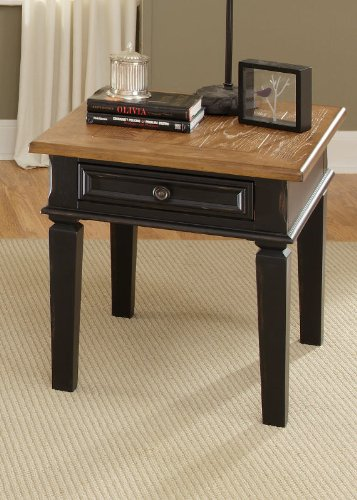 Cheap End Table by Liberty – Driftwood & Black (641-OT1020) (641-OT1020)