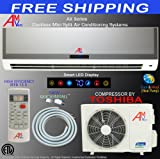 51xtS 9 ABL. SL160  12000 1 Ton Btu Ductless Mini Split Air Conditioner Unit Ac System Heat Pump + Free Shipping + Free Installation Kit