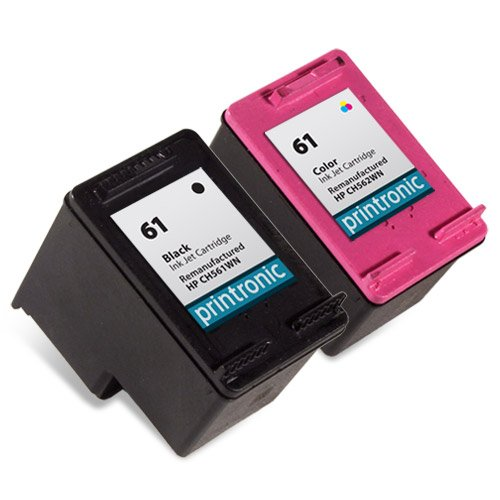 Printronic Remanufactured Ink Cartridge Replacement For Hp 61 Ch561Wn Ch562Wn (1 Black 1 Color) 2 Pack