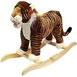 Happy Trails Tiger Plush Rocking Animal