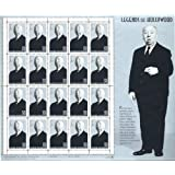 Alfred Hitchcock: Legends of Hollywood, Full Sheet of 20 x 32-Cent Postage Stamps, USA 1998, Scott 3226