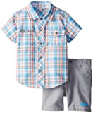 Calvin Klein Boys 2-7 Toddler Short Sleeve Shirt with Shorts