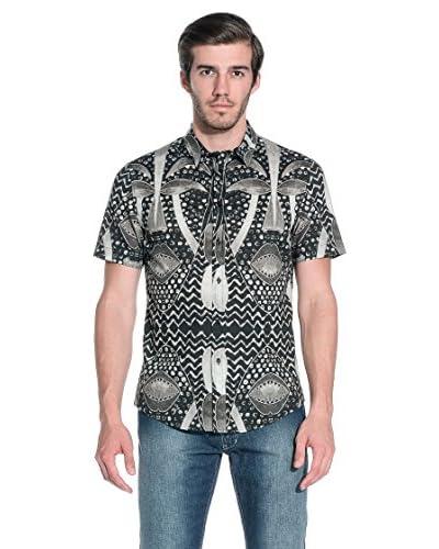 RICHMOND Camicia Uomo [Nero/Grigio]