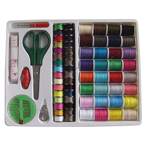 Pixnor Pixnor 100-in-1 Essential Sewing Tools Kit Needlework Box Set for Domestic Sewing Machine