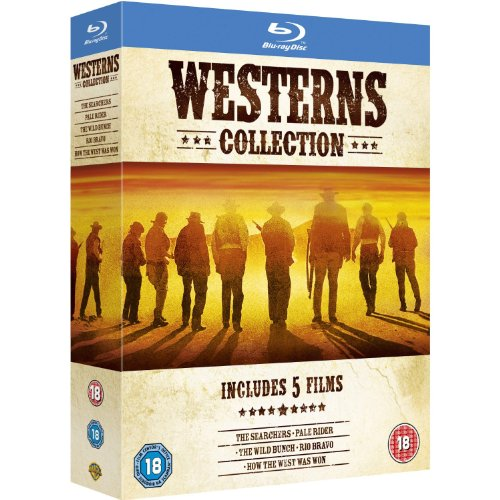 Westerns Collection (Pale Rider / The Wild Bunch / Rio Bravo / How The West Was Won / The Searchers) [Region Free]
