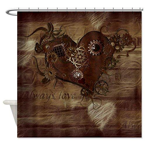 CafePress Steampunk Love Shower Curtain - Standard White