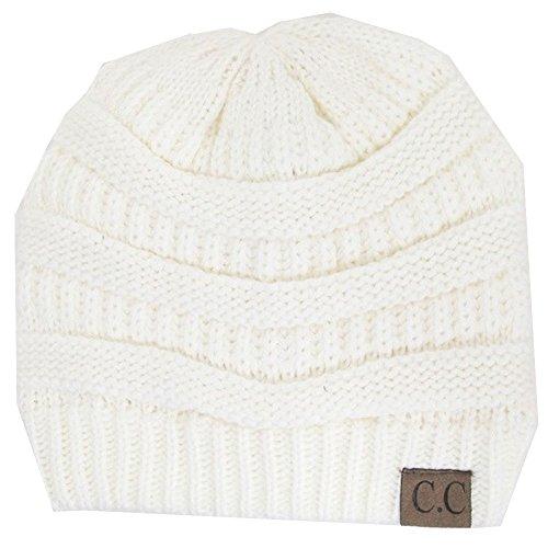 luxury-divas-charcoal-thick-slouchy-knit-oversized-beanie-cap-hatone-sizeivory