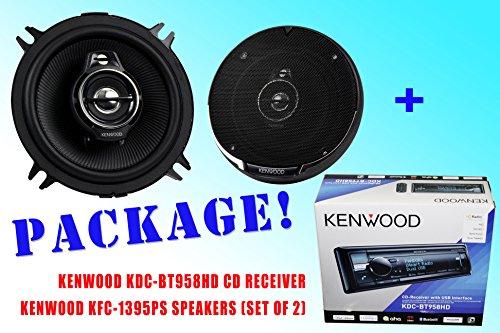 Package ! Kenwood Kdc-Bt958Hd Cd-Receiver + Kenwood Kfc-1395Ps Car Speakers