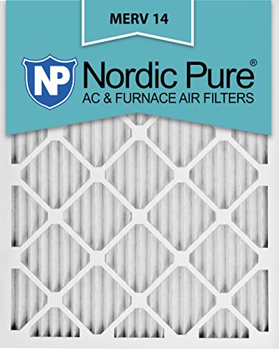Nordic Pure 16x25x1M14-6 Pleated AC Furnace Air Filter, Box of 6