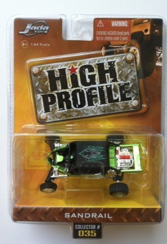 Jada High Profile Sandrail #035 Wave 3 2006 Green with Flame Detail (Jada Toys High Profile 1 64 compare prices)