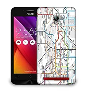 Snoogg London Tube Map Designer Protective Back Case Cover For HTC one A9