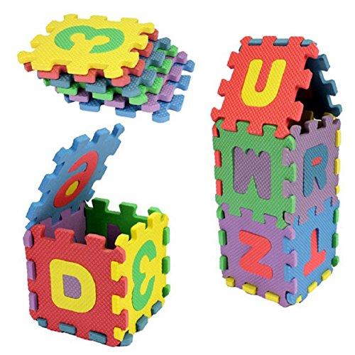 Ukamshop 36 Stück Baby Kind Bunte Schaum Anzahl Alphabet EVA Puzzle Spielzeug