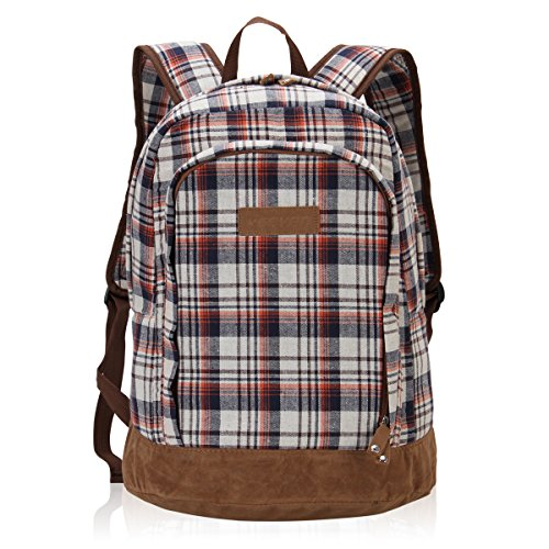 Hynes Eagle Classic Plaid Backpack (Brown)