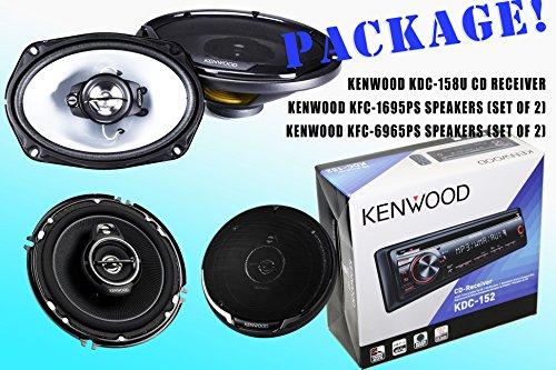 Package! Kenwood Kdc-152 Cd-Receiver + Kfc-1695Ps Speakers + Kfc-6965Ps Speakers