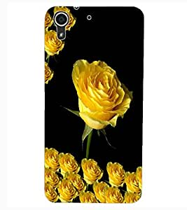 ColourCraft Lovely Flowers Design Back Case Cover for HTC DESIRE 626