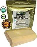Perfect Body Harmony Unrefined & Non-Deodorized Organic Cocoa Butter Bar, Large, 16 oz.