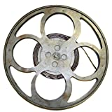 """Urban Designs Hollywood Film Reel Round Top Metal Accent Table, 28"""""""