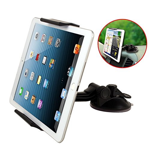 2 in 1 Tablet Stand for Car headrest Dashboard Windshield Mount,Back Seat Mount For Apple iPad 3/4/5 ,iPad MINI Headrest Mount for Google Nexus 7 / Galaxy Tab 3, 4, 5 / Asus Memopad / Verizon Ellipsis