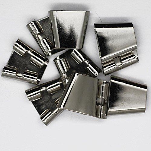 Blank Bolo Tie Slides Pack of 10 Silvertone (Bolo Tie Parts compare prices)