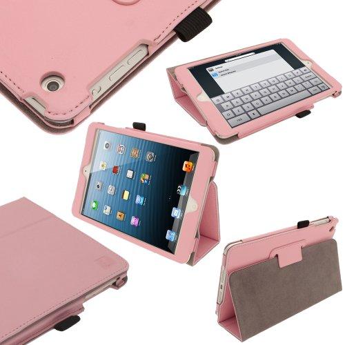 igadgitz 'Ergo-Portfolio' Rosa Eco Pelle Custodia Case Cover Protezione per Nuovo Apple iPad Mini Wi-Fi 16GB 32GB 64GB. Con Funzione Sleep/Awake + Pellicola Protettore Schermo