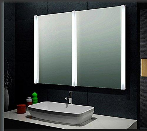 Specchio da bagno con luce 90x120cm