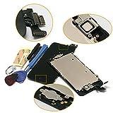 (Super LCD Shop) iPhone5 フロントパネル カスタムパーツ 液晶パネル LED スクリーン 修理パーツ(ホームボタン +スピーカー +フロントカメラ)(ブラック)