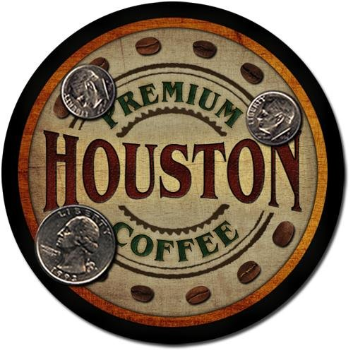 Houston Family Name Coffee Drink Coasters - 4 Pack