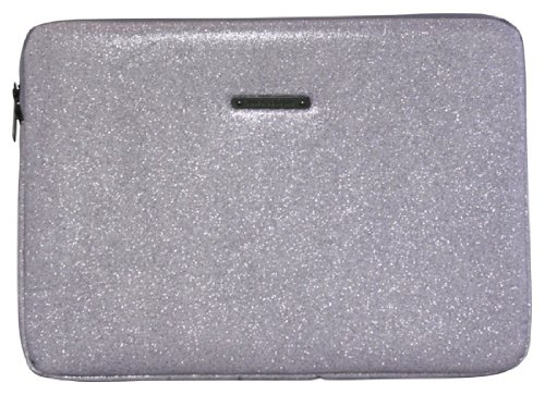 Juicy Couture 15 Inch Laptop Sleeve Stardust Glitter Silver
