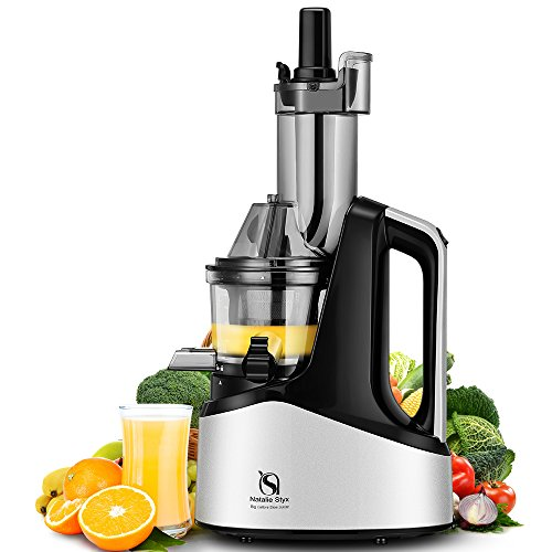 Find Bargain Natalie Styx New Generation Wide Chute Anti-Oxidation Slow Masticating Juicer (Silver, ...