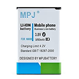 MPJ 3200mAh Rechargeable Battery For Samsung Galaxy Note 3 III, N9000, N9005 LTE, Verizon N900V, T-Mobile N900T, ATT N900A, Sprint N900P, with NFC Compatibility