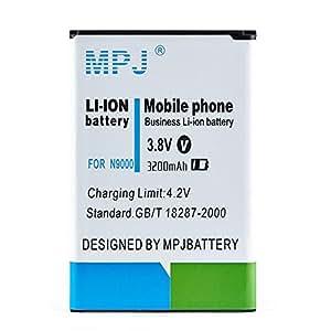 MPJ 3200mAh High Quality Rechargeable Li-ion Battery for Samsung Galaxy NOTE 3 III N9000 N9005 LTE Verizon N900V T-Mobile N900T AT&T N900A Sprint N900P with NFC Compatibility [12-Month Warranty]
